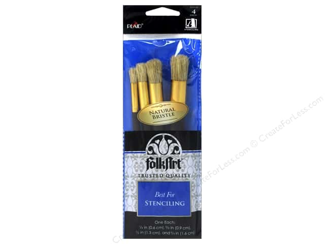 Plaid Tools FolkArt Brush Set Stencil 4pc