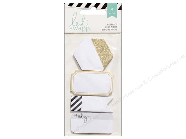 Heidi Swapp Notepads 4 pc. Black & Gold