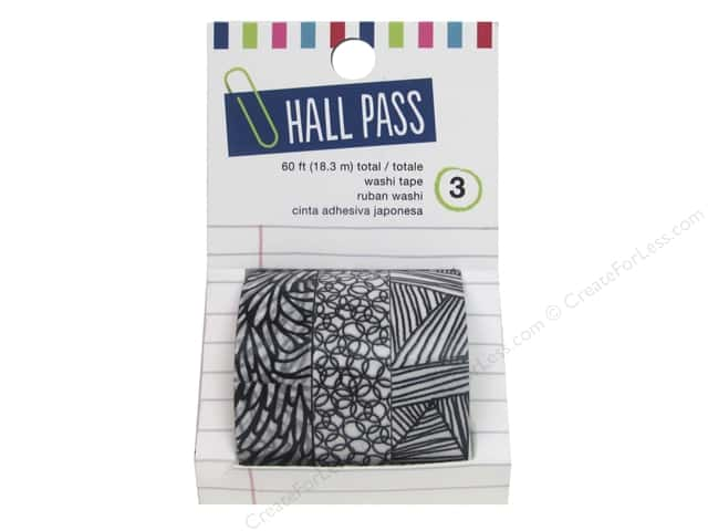 American Crafts Washi Tape 3 pc. Hall Pass Sketch Mark