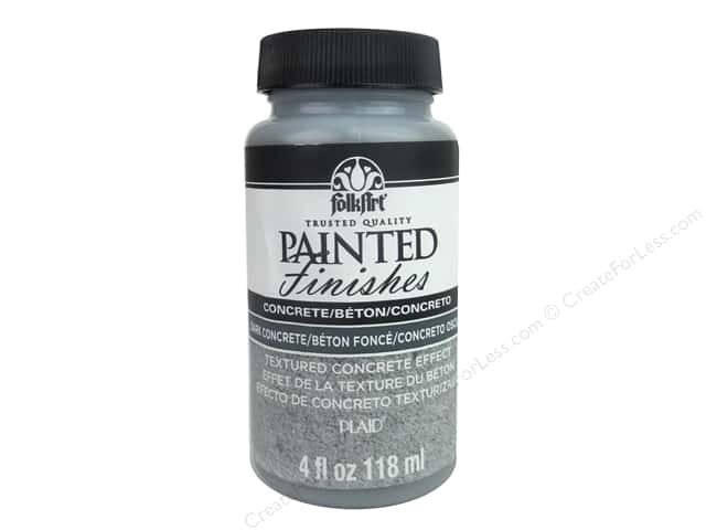 Plaid FolkArt Painted Finishes 4 oz. Dark Concrete