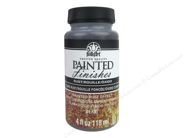Plaid FolkArt Painted Finishes 4 oz. Brown Rust