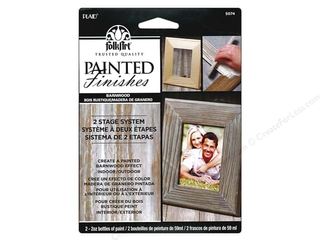 Plaid FolkArt Painted Finishes Kit Barnwood