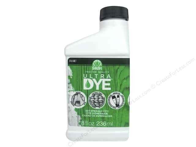 Plaid FolkArt Ultra Dye 8 oz. Jug Emerald City