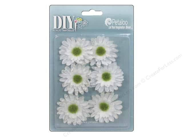 Petaloo DIY Paintables Gerber Daisy White