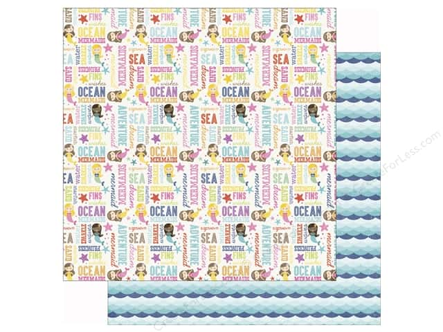 Echo Park 12 x 12 in. Paper Lets Be Mermaids Ocean Adventure (25 sheets)