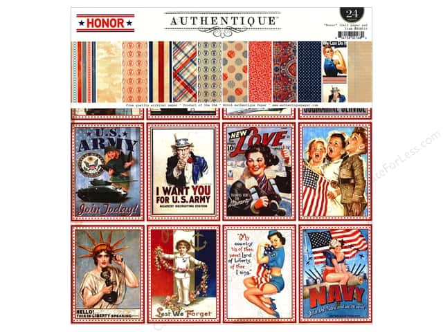 Authentique 12 x 12 in. Paper Pad Honor