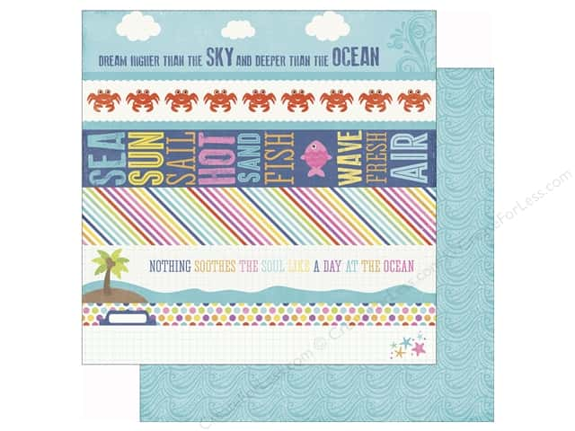 Echo Park 12 x 12 in. Paper Lets Be Mermaids Border Strip (25 sheets)
