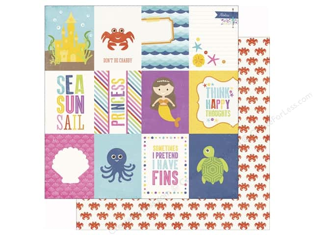 Echo Park 12 x 12 in. Paper Lets Be Mermaids 3x4 Journaling Cards (25 sheets)