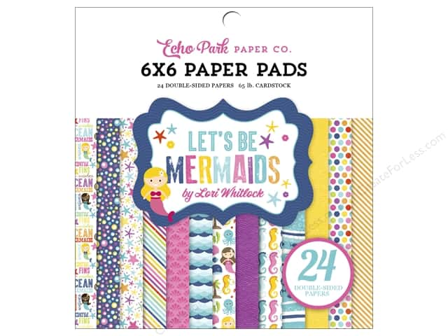 Echo Park Paper Pad 6 x 6 in. Lets Be Mermaids