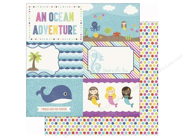 Echo Park 12 x 12 in. Paper Lets Be Mermaids 4x6 Journaling Cards (25 sheets)