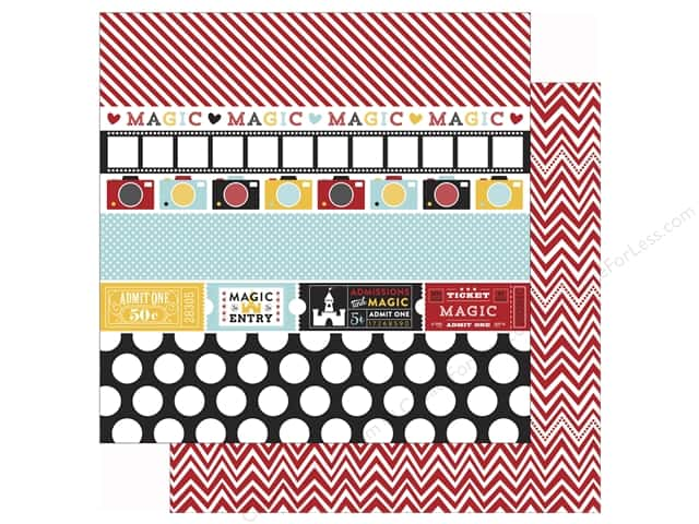 Echo Park 12 x 12 in. Paper Magical Adventure Border Strips (25 sheets)