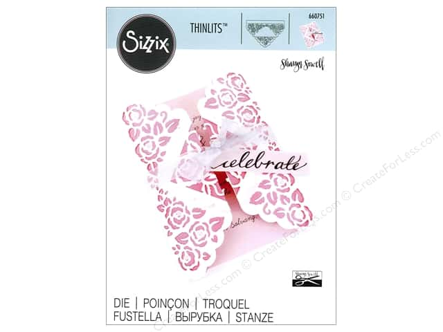 Sizzix Thinlits Die 1 pc. Rose Lace Gatefold Card