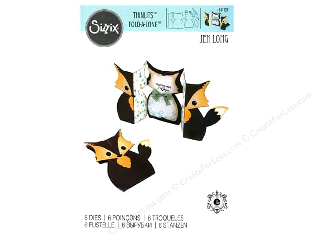 Sizzix Thinlits Die Set 6 pc. Fox Label Fold-a-Long Card