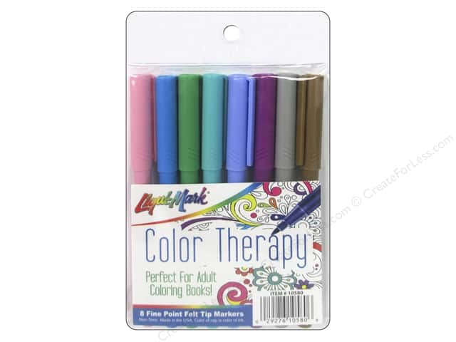 Liquimark Markers Color Therapy Fine Point Fashion 8pc