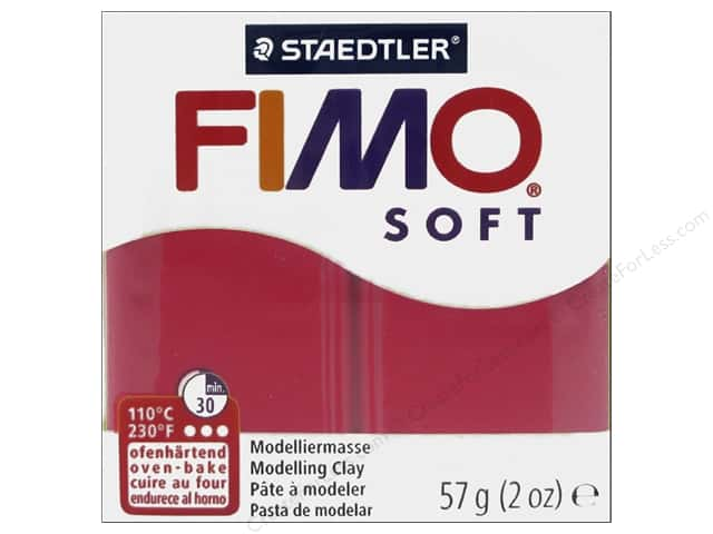 Fimo Soft Clay 2 oz. Cherry Red