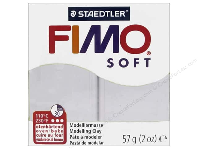 Fimo Soft Clay 2 oz. Dolphin Grey