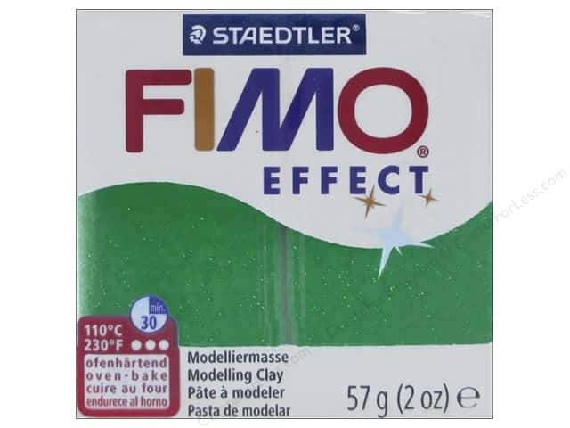 Fimo Soft Clay 2 oz. Glitter Green