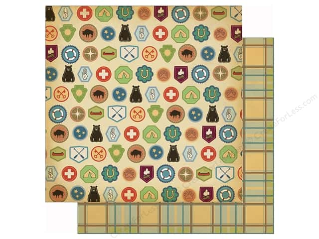 Carta Bella 12 x 12 in. Paper Great Outdoors Badges (25 sheets)
