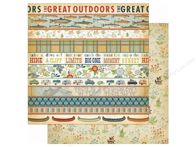 Carta Bella 12 x 12 in. Paper Great Outdoors Border Strips (25 sheets)
