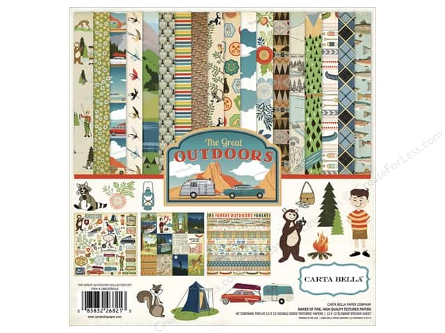 Carta Bella 12 x 12 in. Collection Kit Great Outdoors