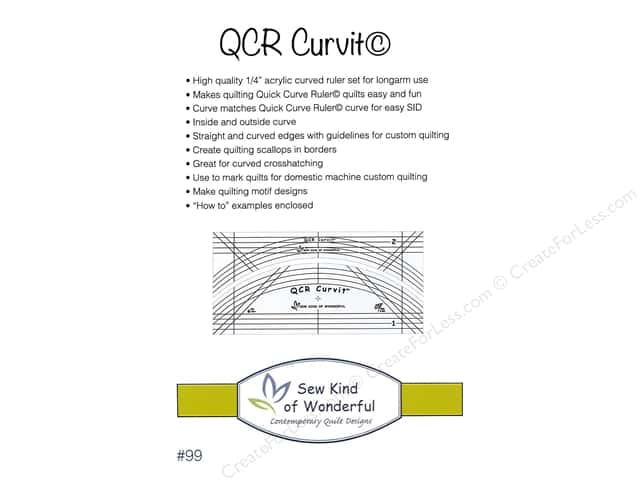 Sew Kind Of Wonderful Ruler QCR Curvit Set