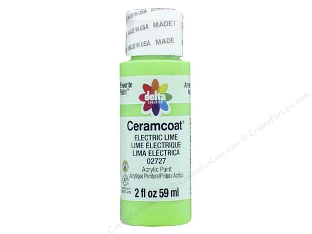 Ceramcoat Acrylic Paint by Delta 2 oz. #2727 Electric Lime