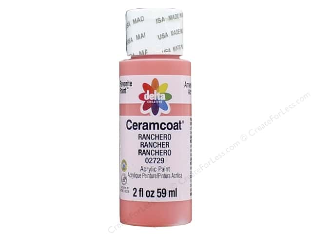 Ceramcoat Acrylic Paint by Delta 2 oz. #2729 Ranchero