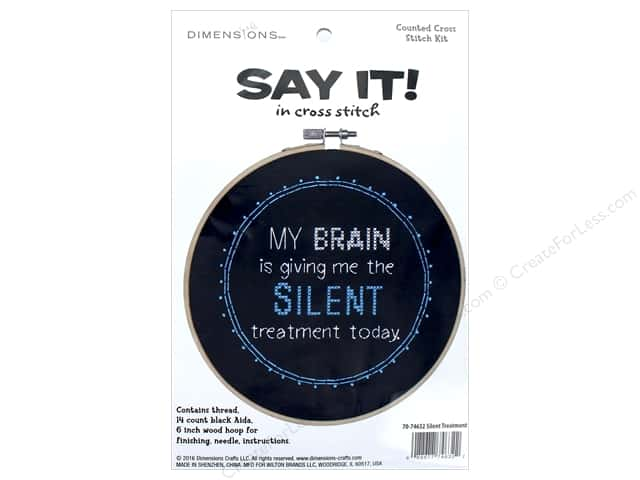 Dimensions Cross Stitch Kit Say It! Silent Treatment