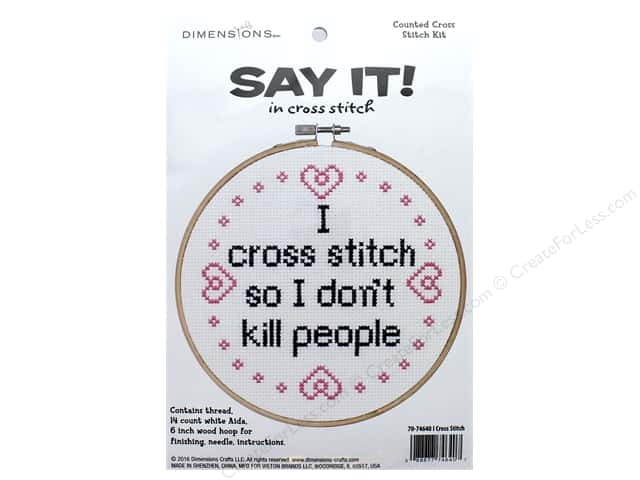 Dimensions Cross Stitch Kit Say It! I Cross Stitch