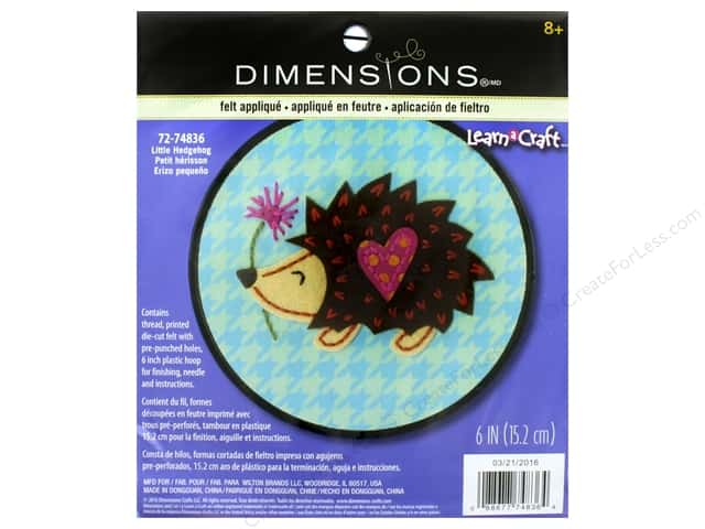Dimensions Applique Kit Little Hedgehog