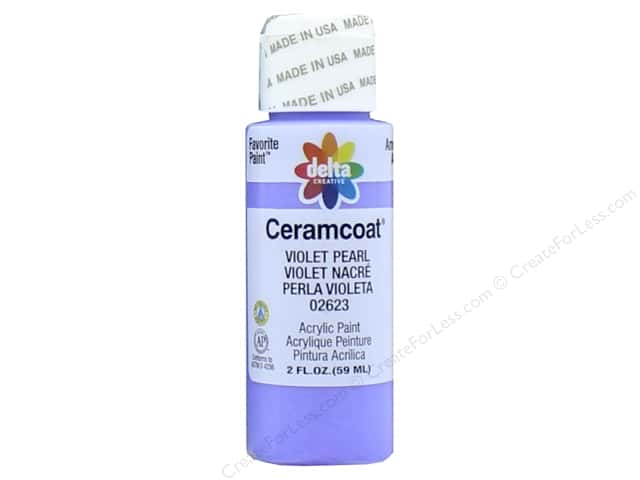 Ceramcoat Acrylic Paint by Delta 2 oz. #2623 Violet Pearl