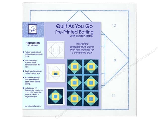 June Tailor Batting Quilt As You Go Poly Hopscotch
