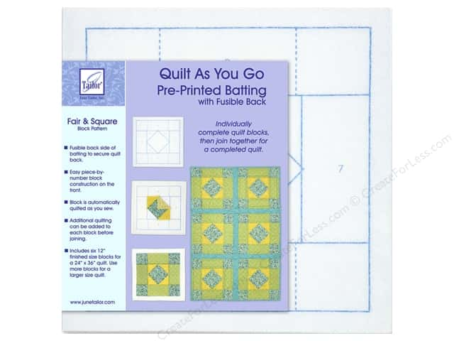 June Tailor Batting Quilt As You Go Poly Fair & Square