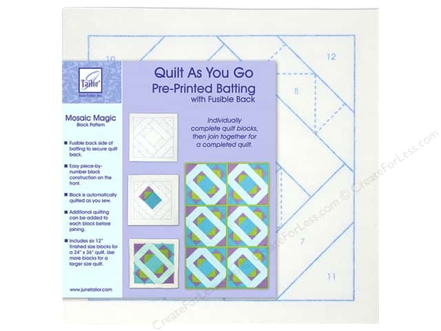June Tailor Batting Quilt As You Go Poly Mosaic Magic