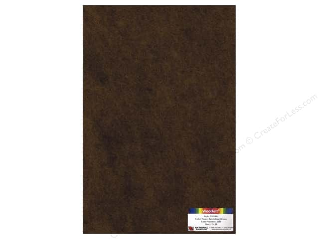 National Nonwovens WoolFelt 12 x 18 in. 35% Bewitching Brown (10 sheets)
