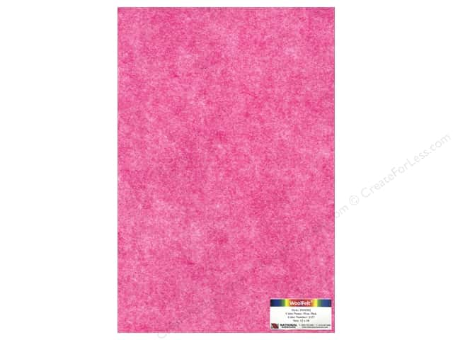 National Nonwovens 35% Wool Felt 12 x 18 in. Pixie Pink (10 sheets)