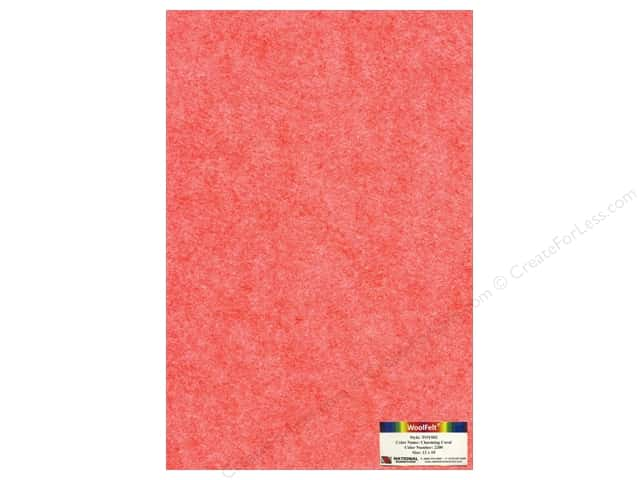 National Nonwovens 35% Wool Felt 12 x 18 in. Charming Coral