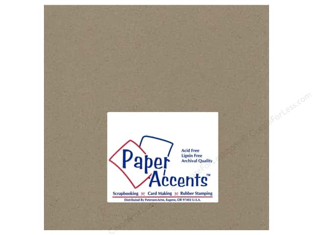 Paper Accents Chipboard 8 x 8 in. 42 pt. XL Heavy Natural 2 pc.