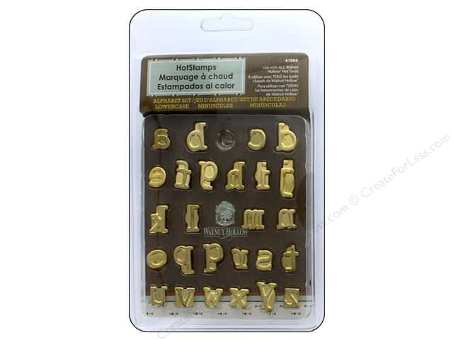 Walnut Hollow HotStamps Set Alphabet Lowercase