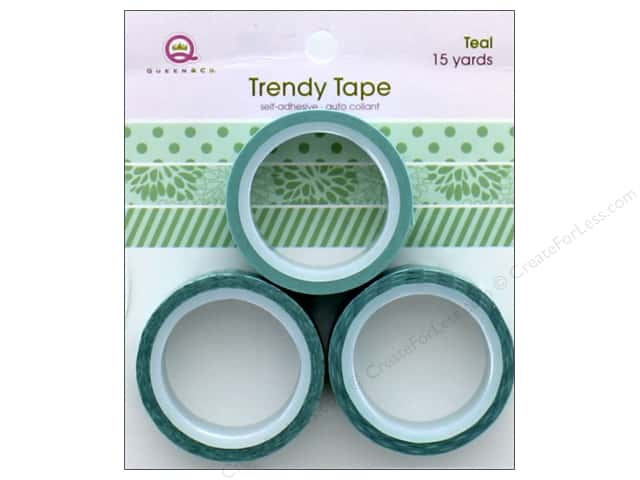 Queen&Co Trendy Tape Trio Set Teal
