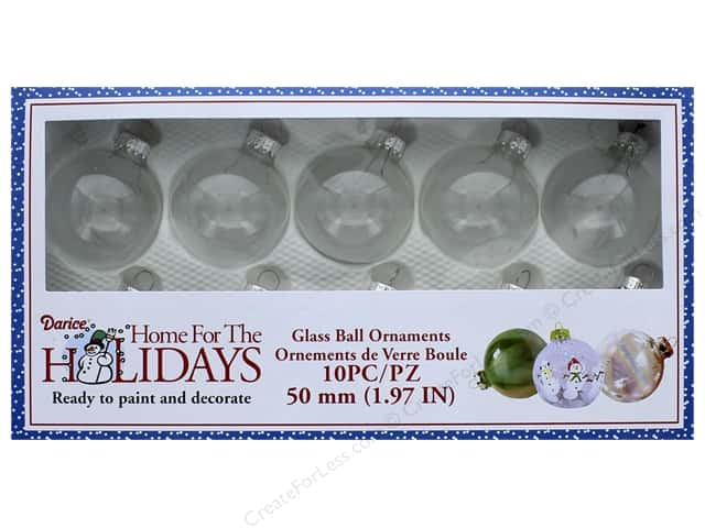 Darice Glass Ball Ornaments 2 in. 10 pc.