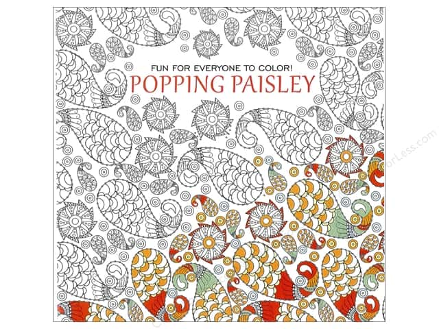 Leisure Arts Popping Paisley Coloring Book