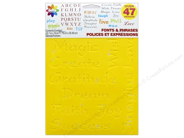 Delta Stencil Mania Value Pack Fonts & Phrases 3 pc.