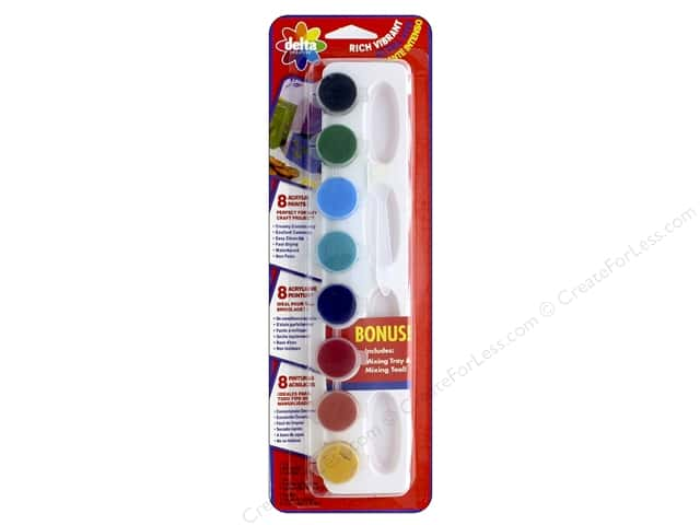 Delta Acrylic Paint Pot Set Vibrant Colors - 8 Colors