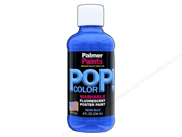 Palmer Poster Paint Washable 8oz POP Neon Blue