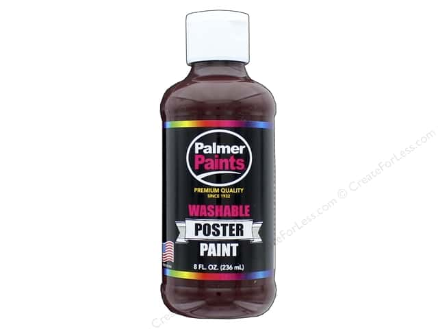 Palmer Washable Poster Paint 8 oz. Brown