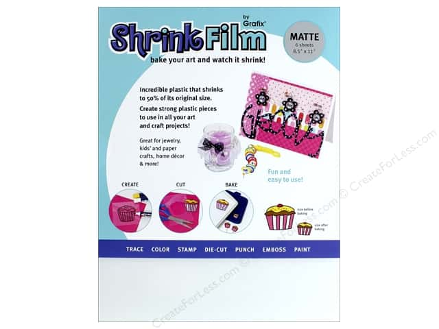 Grafix Shrink Film 8 1/2 x 11 in. Matte 6 pc.