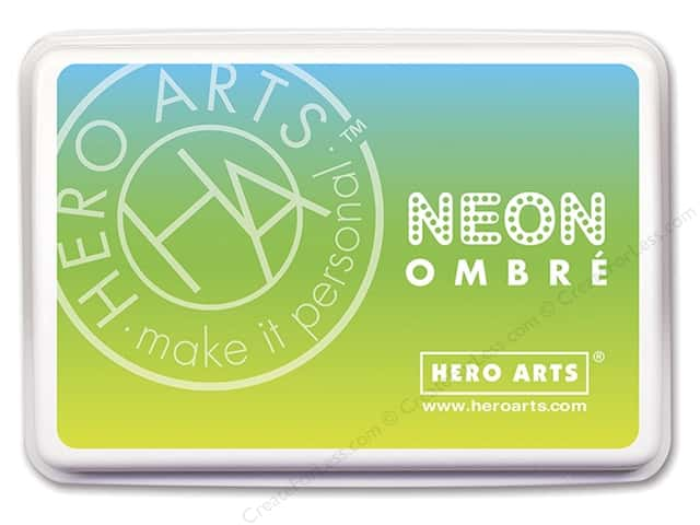 Hero Arts Ink Pad Ombre Neon Chartreuse/Blue