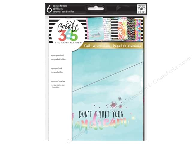 Me&My Big Ideas Create 365 Happy Planner Pocket Folder Don't Quit Your Daydream