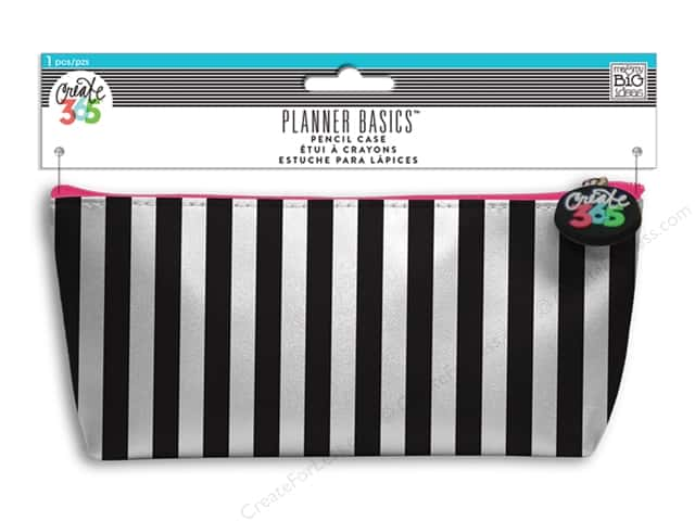 Me&My Big Ideas Create 365 Basics Pencil Case Black & White Stripes